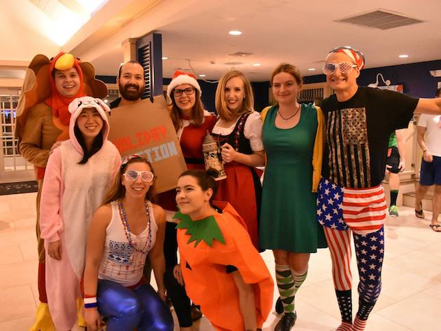 "The Lees Lab dressed as ""Holliday Junctions"" for the 2018 Koch Retreat costume party"